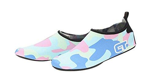 Strand-Schuhe Sportschuhe Wasserlaufband Schuhe Wanderschuhe Yoga Weiche Schuhe azurblau