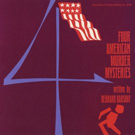Four American Murder Mysteries written by Bernard Barshay - read by Henry Hamilton - vintage vinyl - Shops Mall Hamilton