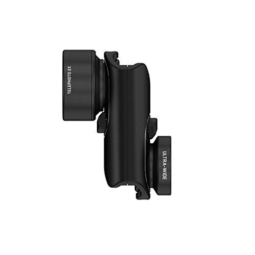 olloclip ACTIVE LENS SET for iPhone 7 & 7 Plus: Black Lens/Black Clip (iPhone Lens)