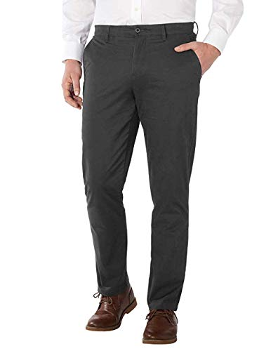 Forged Iron Button - English Laundry Men's Chino Pant, Variety (Forged Iron, 36 x 32)