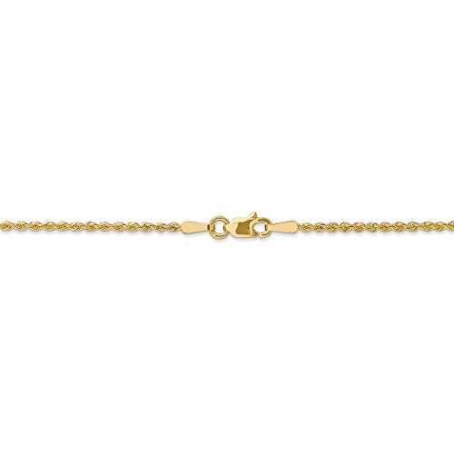 Gold Twisted Rope 14k (1.8 mm 14k Yellow Gold Solid Rope Chain Ankle Bracelet - 10 Inch)