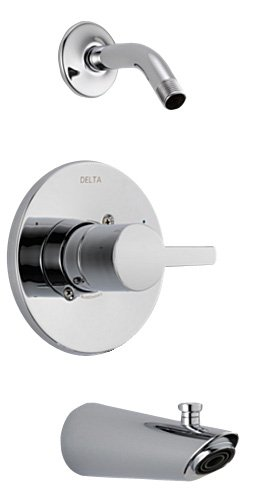 Delta T14461-LHD Compel 14 Series Tub/Shower Trim with Less Showerhead, Chrome by DELTA FAUCET