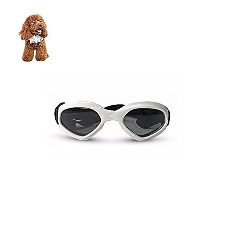 Petacc Gafas de sol para perro, gafas de sol decorativas, gafas protectoras con correas ajustables, aptas para perros y gatos de tamaño pequeño: Amazon.es: ...