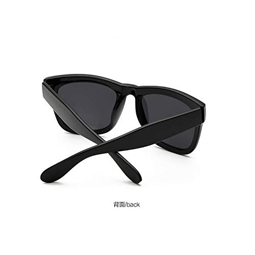 Sol Sol de Brillante cuadradas Gafas de Gafas Modernas Gafas Negro Oro Burenqiq de de Gafas Hombres Rosa Polvo de all black Retro los polarizadas Bright polarizadas gray Sol E78g7qvHwc