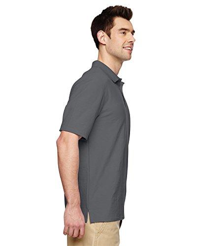 Athletic Pique Sport Shirt - Gildan Mens DryBlend Adult Sport Double Pique Polo Shirt (M) (Charcoal)