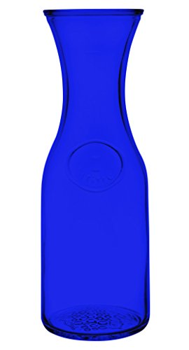 Libbey Glassware 97000 Glass Wine Carafe Decanter - Full Color Cobalt Blue - Additional Vibrant Colors Available by TableTop King