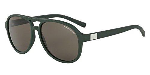 Armani Exchange AX4055S-819673-58 Green Aviator Sunglasses b3643adc9a