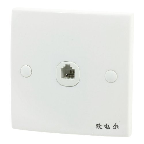Water & Wood Bank Office Phone Telephone Single Socket Wall Panel for 4 Pin RJ11 -