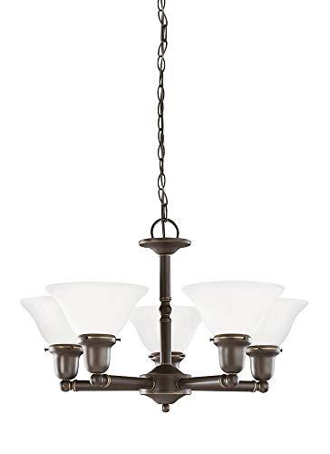 Sea Gull Lighting 31061EN3-782 Five Light Chandelier, Heirloom Bronze