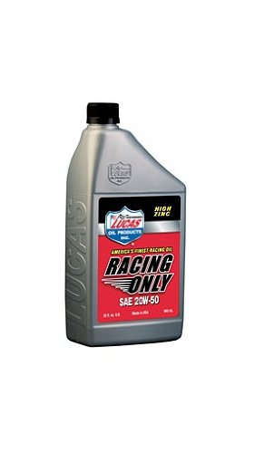 20w50 Racing Oil (Lucas Oil 10620-6PK SAE 20W-50 Racing Oil - 1 Quart Bottle, (Case of 6))