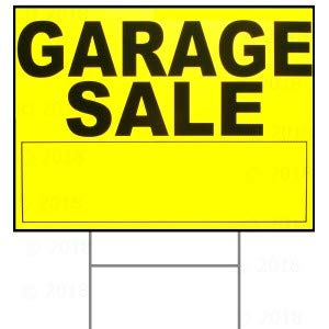 18 x 24 Garage Sale Sign w/ H Stake