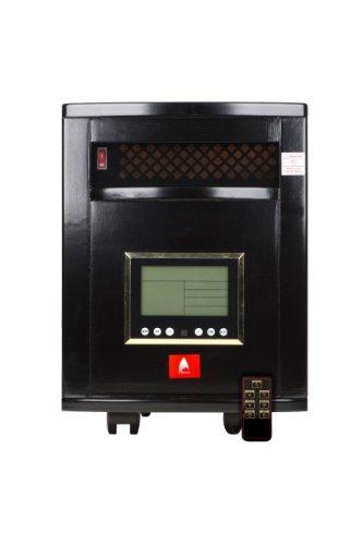 PREMIUM Black 1,000sq ft Estufa cuarzo Atlas de infrarrojos para interior con control remoto (6Emisores de cuarzo.) & dos...