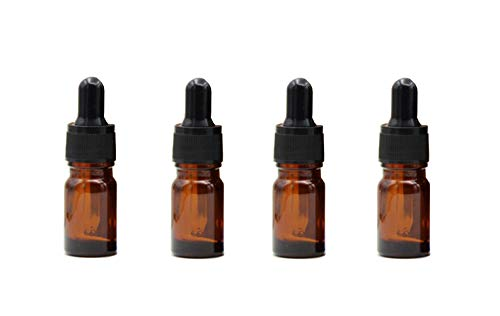 12PCS 5ML Small Ounce Empty Amber Glass Essential Oil Bottle with Pipettes Eye Dropper Container for Lab Dropping