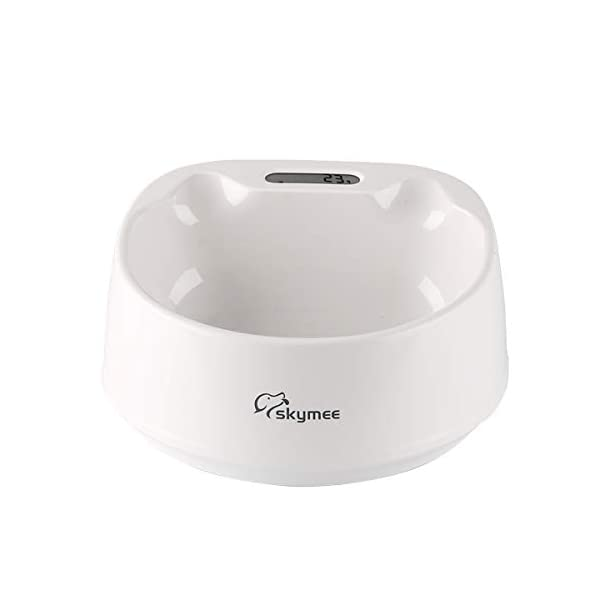 SKYMEE Smart Digital Feeding Pet Bowl Accurate Weight with LCD Display Waterproof for Dog Cat Food Water Washable Feeder