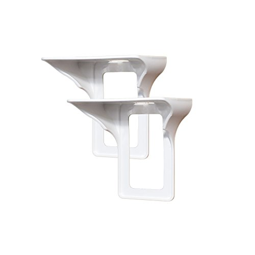 Power Perch - 2pack (white) - The Ultimate Shelf for Your Home - Works with All Vertical Single Outlets - No Additional Hardware Required with Damage Free Installation
