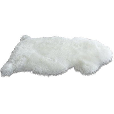 WoolMates Genuine New Zealand Sheepskin Rug. Ivory Soft and Single by - New Zealand Sheepskin Rugs