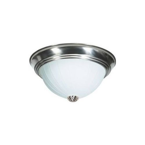 Nuvo 60-447 - 13`` Dome Flush Mount Ceiling Light in Brushed Nickel Finish ;#by:lightingsupplygroup