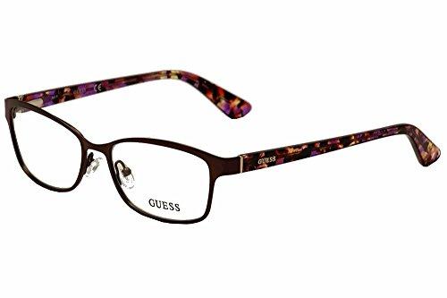 Guess Brown Eyeglasses - Guess Eyeglasses GU2548 GU/2548 049 Brown/Purple Brown Havana Optical Frame 52mm