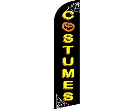 Halloween Costumes Windless Banner (Restaurant Halloween Discounts)