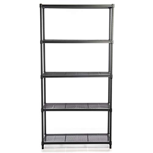 "Tidy Living 5 Tier All Metal Shelves: Heavy Duty Shelving, Wire Shelving Unit for Storage Shelves, Garage Shelving, Book Shelves, 71.7"" x 36"" x 13.8"""