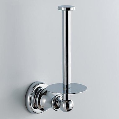 LI Chrome Finish Contemporary Style Wall Mounted Brass Toilet Paper Holder Rack 59009 Lina-bathroom accessories