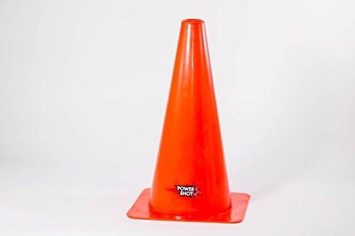 Set di 4 Birilli//Coni DELIMITATORI Spazio-Allenamento PLASTICA Dura E Resistente Colore Arancione