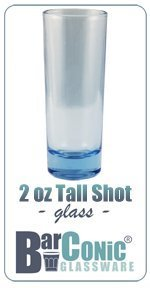 BarConic 2 ounce Tall Light Blue Shot Glass (Case of 144) by BarConic