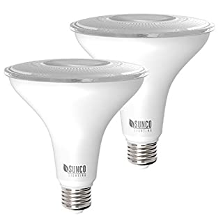 Sunco Lighting 2 Pack PAR38 LED Bulb 13W=100W, 5000K Daylight, 1050 LM, Dimmable, Indoor/Outdoor Spotlight, Waterproof - UL & Energy Star