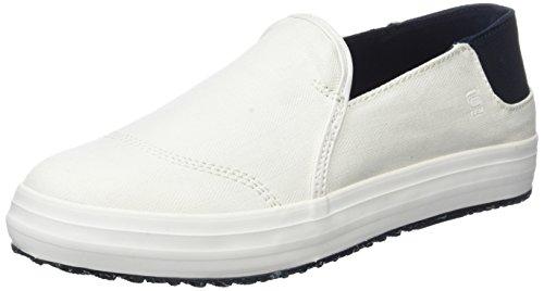 G-STAR RAW Kendo Slip on, Sneakers Basses Femme, Bleu Blanc (White 110)