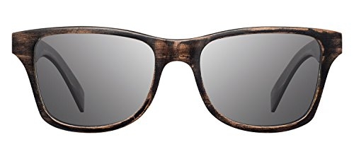 Shwood - Canby Wood, The Original Wood Sunglasses, Distressed Dark Walnut, Grey Polarized - Canby Glass