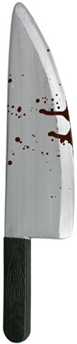 Blood Knife Prop (Pretend Plastic Cleaver Costume Accessory [91414D])