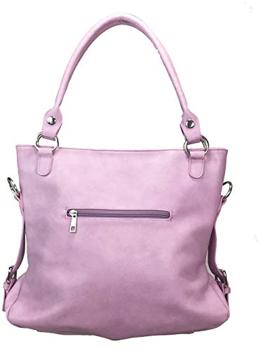 Purse Cut Bag Double Big Zzfab Handles Hobo Pink Laser 5qTwnx40