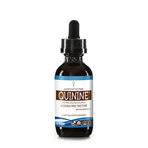 Quinine Alcohol-FREE Liquid Extract, Organic Quinine (Cinchona officinalis) Dried Bark (2 FL OZ) (Quinine Sulfate)
