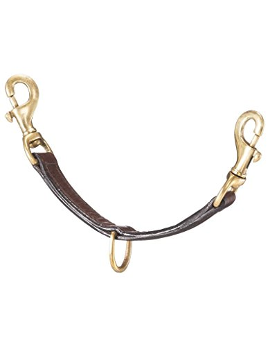 Dark Oil Leather (Tough-1 Leather Lunging Strap with Brass Hardware Dark Oil)