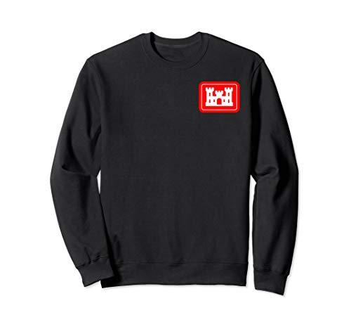Engineer Adult Sweatshirt - United States Army Corps of Engineers DOD Patch Sweatshirt