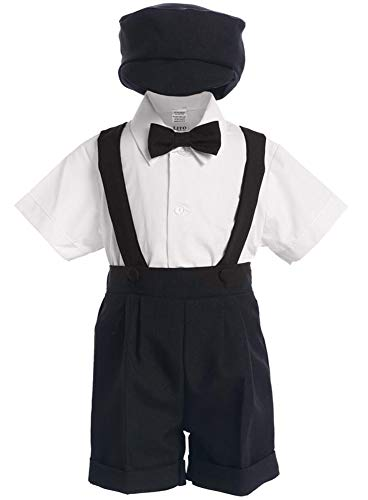 # 9-850BL-M-Short Set - Black Shorts and Hat, tie w/ White Shirt- Made in USA