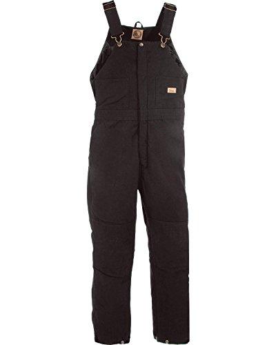 Berne Women's Washed Insulated Bib Overalls Regular Black XLR