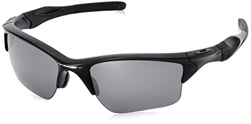 Oakley Men's Half Jacket 2.0 XL Polarized Iridium Wrap Sunglasses Matte black 62 mm