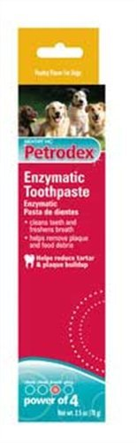 Petrodex Enzymatic Toothpaste for Dogs - Poultry Flavor, 2.5-Ounce, Pack of 1
