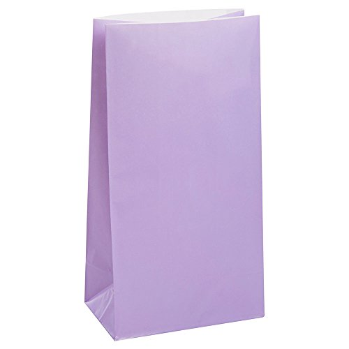 Lavender Paper Party Bags, 12ct