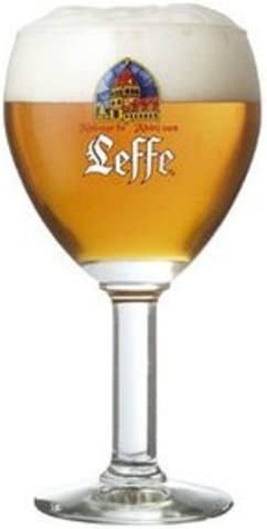 Leffe Belgian Beer Chalice Glass 0.25L Set of 2 by LEFFE