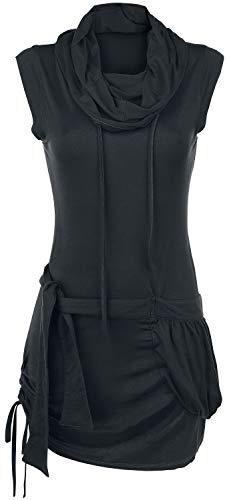 Forplay High Neck Dress Korte jurk zwart