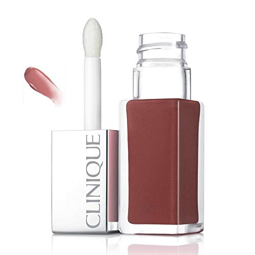 Clinique Lacquer Lip Color Plus Primer, 01 Cocoa Pop, 0.2 Ounce