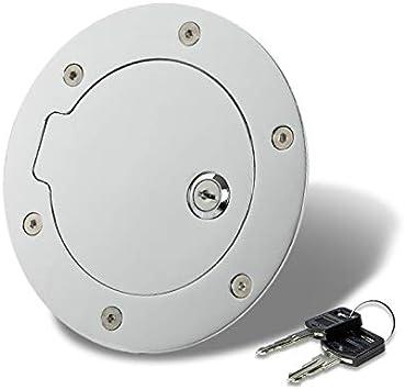 Amazon Com Replacement For Dodge Ram Fuel Gas Tank Door With Lock Chrome Dr Dh D1 Dc Dm Automotive