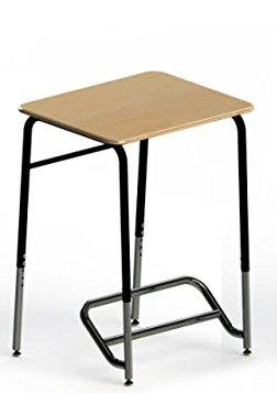 Kindergarten 4th Grade Polymeric Classroom Desk Frame Finish: Black, Desk Finish: Maple by Stand2Learn