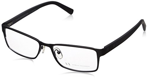 Armani Exchange AX 1003 Men's Eyeglasses Satin Black - Frames Prescription Armani