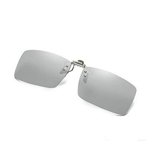 y Uso de B día fotosensible Clip KOMNY de 2 de Gafas conducción miopía B Noche con Clips de Color Doble 168 polarizados Sol AXvOWvBZ
