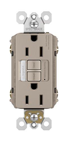 Legrand-Pass & Seymour 1597NTLTRNICC4 Combination Tamper-Resistant 15A Self-Test Night Light/GFCI, 15 Amp, Nickel