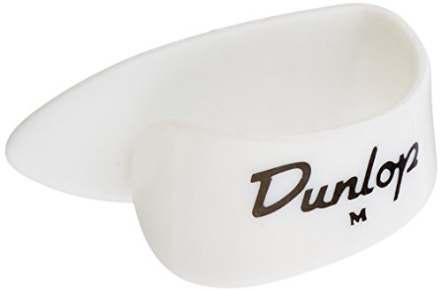 (Dunlop 9002P White Plastic Thumbpicks, Medium, 4/Player's Pack)