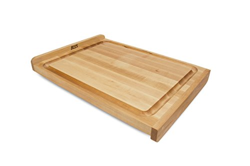 (John Boos Countertop Reversible Edge Grain Cutting Board with Gravy Groove, 23.75 Inches x 17.25 Inches x 1.25 Inches)